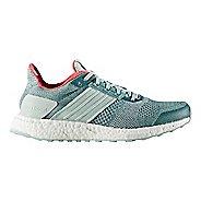 Womens adidas Ultra Boost ST Running Shoe - Green/Silver 10