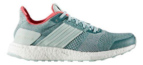 Womens adidas Ultra Boost ST Running Shoe - Green/Silver 9