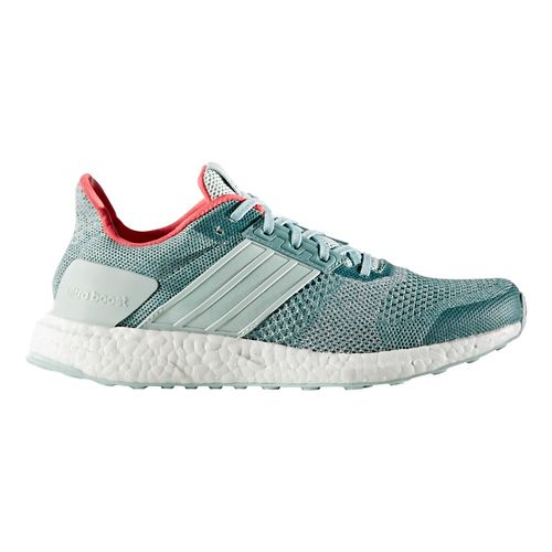 Womens adidas Ultra Boost ST Running Shoe - Green/Silver 6