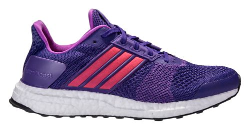 Womens adidas Ultra Boost ST Running Shoe - Purple/Red 7