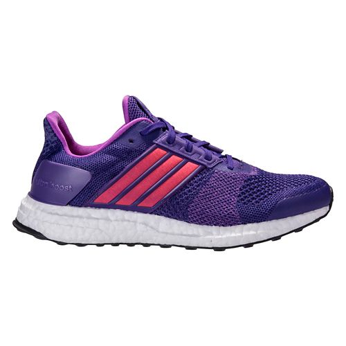 Womens adidas Ultra Boost ST Running Shoe - Purple/Red 7.5