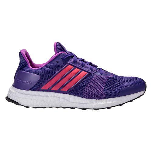 Womens adidas Ultra Boost ST Running Shoe - Purple/Red 9