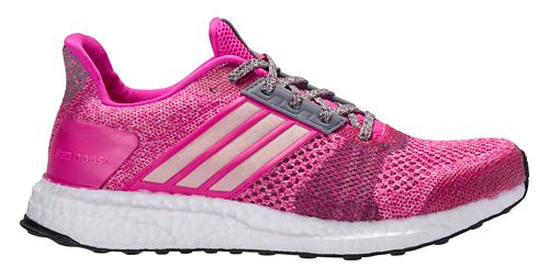 Womens adidas Ultra Boost ST Running Shoe - Shock Pink 10
