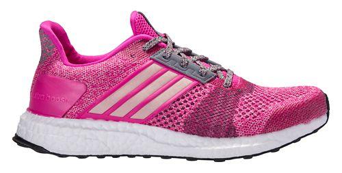 Womens adidas Ultra Boost ST Running Shoe - Purple/Red 7