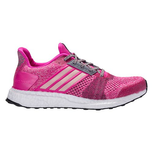 Womens adidas Ultra Boost ST Running Shoe - Shock Pink 11
