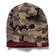 Mens Under Armour 2-Way Camo Beanie Headwear - Canvas/Red