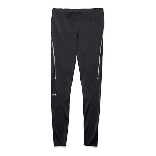 Womens Under Armour Clutch Fit Legging Full Length Tights - Black/Silver XL