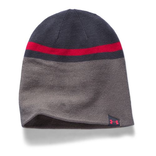 Mens Under Armour 4 in 1 Beanie 2.0 Headwear - Stealth Grey/Red