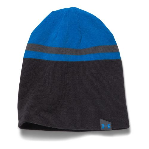 Mens Under Armour 4 in 1 Beanie 2.0 Headwear - Blue Jet/Grey
