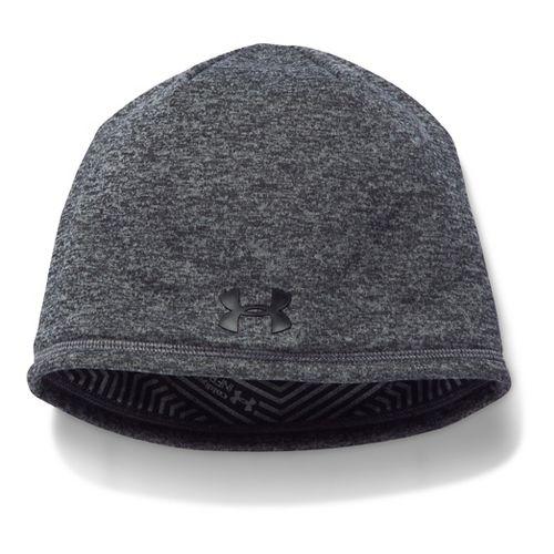 Mens Under Armour Elements Beanie 2.0 Headwear - Graphite/Black