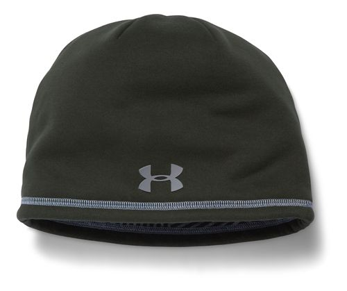Mens Under Armour Elements Beanie 2.0 Headwear - Green/Steel