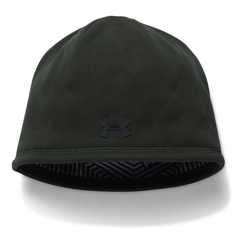 Mens Under Armour Elements Beanie 2.0 Headwear - Artillery Green