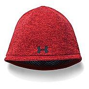 Mens Under Armour Elements Beanie 2.0 Headwear - Red
