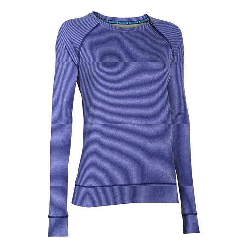 Womens Under Armour ColdGear Cozy Zip Crew Long Sleeve Half Zip Technical Tops - Europa ...