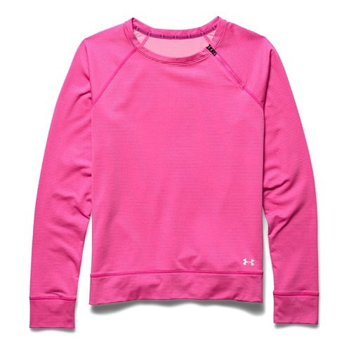 Womens Under Armour ColdGear Cozy Zip Crew Long Sleeve Half Zip Technical Tops - Rebel ...