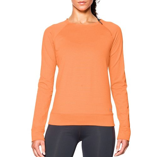 Womens Under Armour ColdGear Cozy Zip Crew Long Sleeve Half Zip Technical Tops - Cyber ...