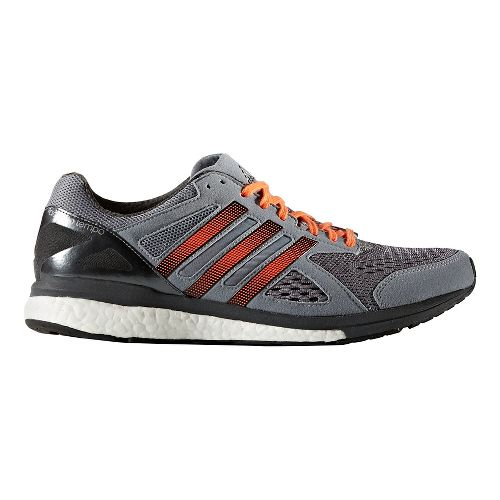 Mens adidas Adizero Tempo 8 Running Shoe - Grey/Orange 12