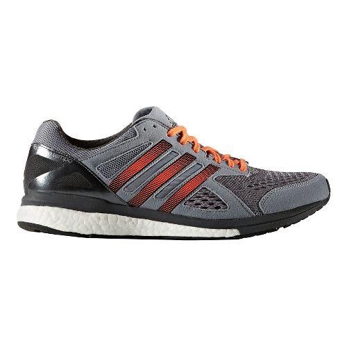 Mens adidas Adizero Tempo 8 Running Shoe - Grey/Orange 8.5