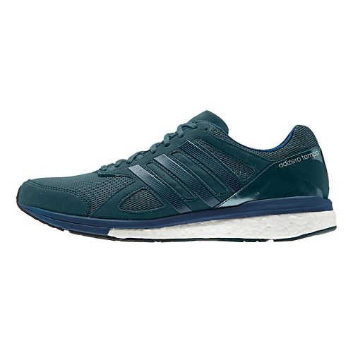 Mens adidas Adizero Tempo 8 Running Shoe - Dark Green 13