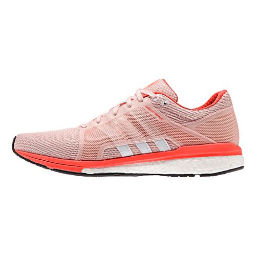 Womens adidas Adizero Tempo 8 SSF Running Shoe - Pink/White/Red 8.5