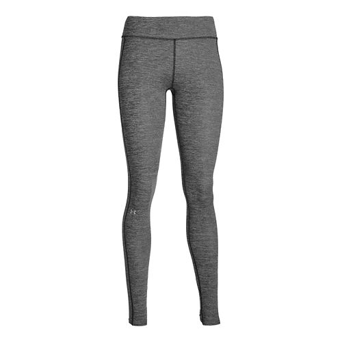 Womens Under Armour ColdGear Legging Full Length Tights - Black/Silver M