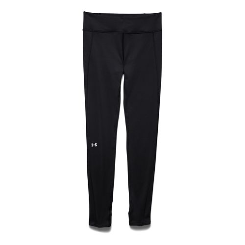 Womens Under Armour ColdGear Leggings Tights - Black/Black XL