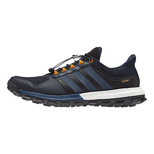 Mens adidas Raven Boost Trail Running Shoe - Navy/Blue 9.5