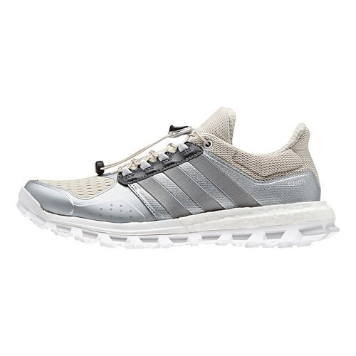 Womens adidas Raven Boost Trail Running Shoe - Silver/Brown 7.5