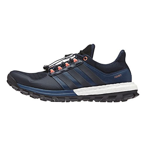 Womens adidas Raven Boost Trail Running Shoe - Navy/Blue 10.5