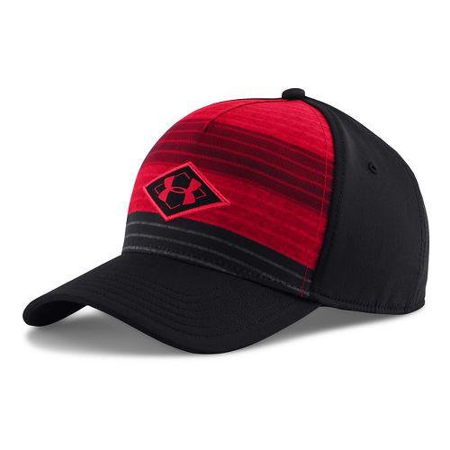 Mens Under Armour Dualer Cap Headwear - Black/Red XL/XXL