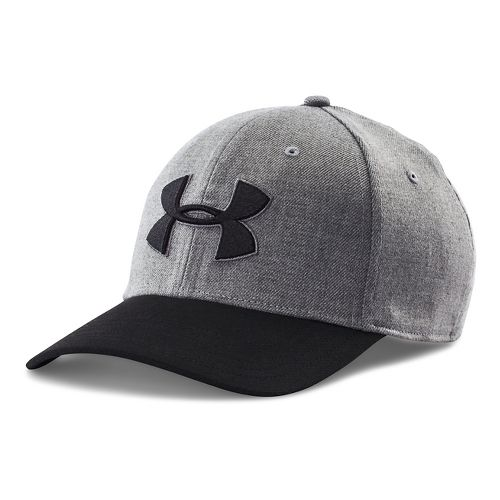 Mens Under Armour Closer 2.0 Cap Headwear - True Grey/Black XL/XXL