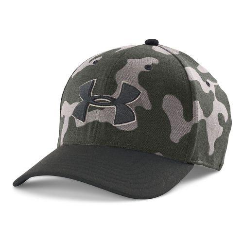 Mens Under Armour Closer 2.0 Cap Headwear - Green/Black M/L