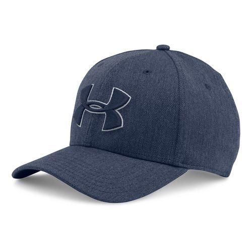 Mens Under Armour Closer 2.0 Cap Headwear - Midnight Navy/Grey L/XL
