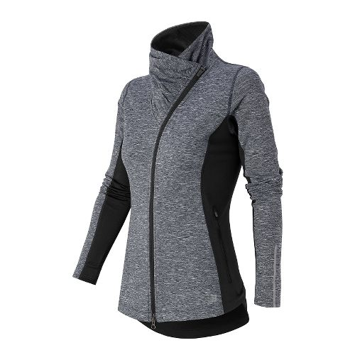 Womens New Balance NB Heat En Route Warm Up Unhooded Jackets - Outer Space/Black S ...