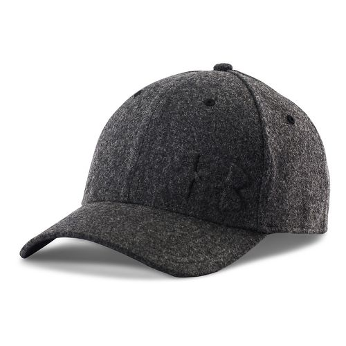Mens Under Armour Wool Low Crown Cap Headwear - Black/Black M/L