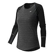 Womens New Balance Performance Merino Long Sleeve No Zip Technical Tops
