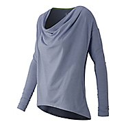 Draped Layer Long Sleeve Top Long Sleeve No Zip Technical Tops