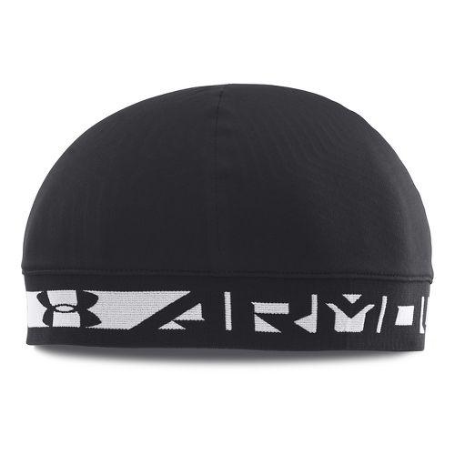 Mens Under Armour Coldgear Infrared Bonded Skull Headwear - Black/White