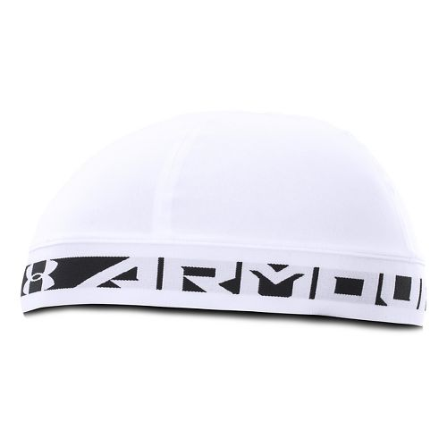 Mens Under Armour Coldgear Infrared Bonded Skull Headwear - White/Black