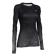 Womens Under Armour ColdGear Sublimated Crew Long Sleeve No Zip Technical Tops