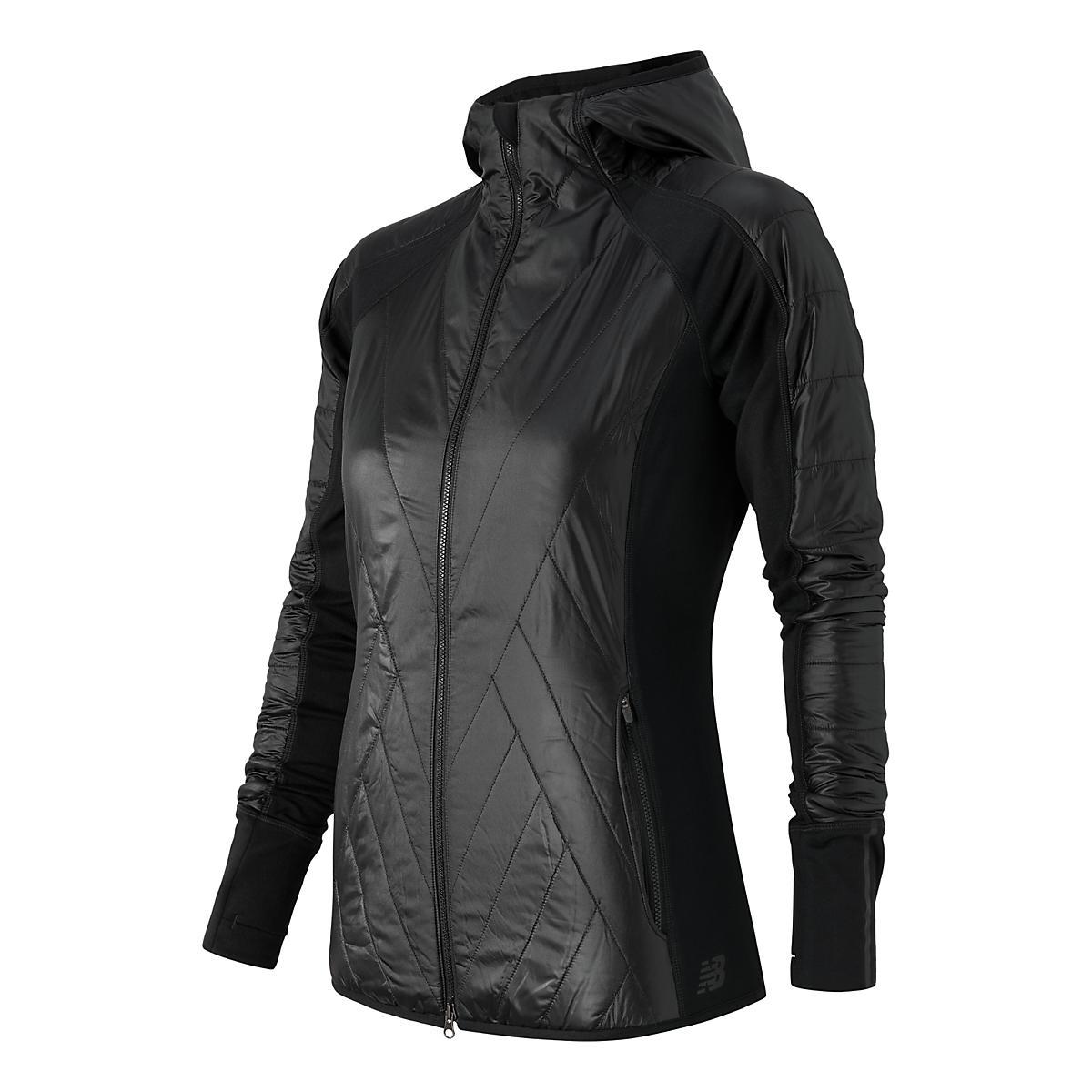 Womens New Balance Heat Hybrid Warm Up Hooded Jackets At