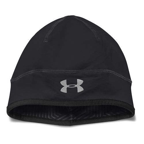 Mens Under Armour ColdGear Infrared Run Beanie Headwear - Black