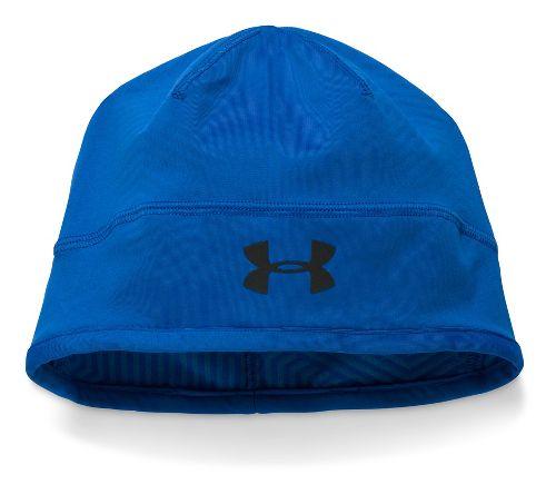 Mens Under Armour ColdGear Infrared Run Beanie Headwear - Ultra Blue
