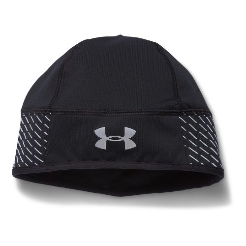 Mens Under Armour Illuminate Run Beanie Headwear - Black