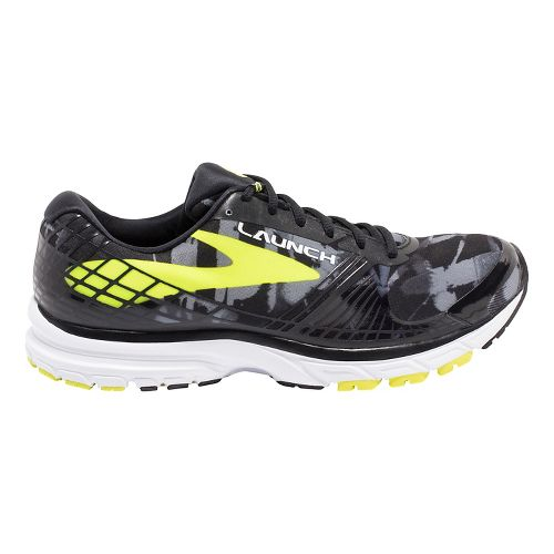 Mens Brooks Launch 3 Running Shoe - Black/Lime 10.5