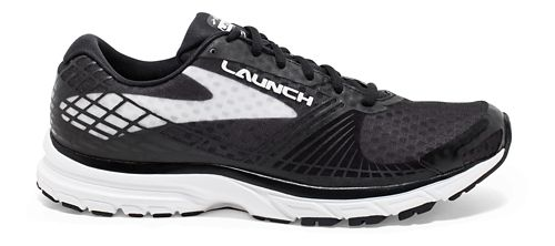 Mens Brooks Launch 3 Running Shoe - Black/White 10