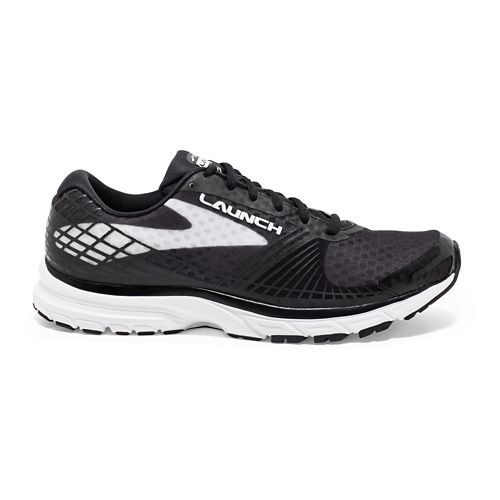 Mens Brooks Launch 3 Running Shoe - Black/White 10.5