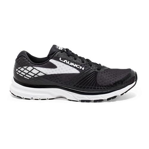 Mens Brooks Launch 3 Running Shoe - Black/White 12