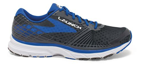 Mens Brooks Launch 3 Running Shoe - Anthracite/Blue 11.5