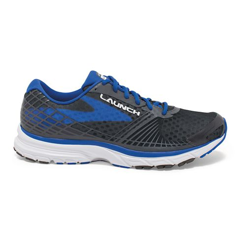 Mens Brooks Launch 3 Running Shoe - Anthracite/Blue 9